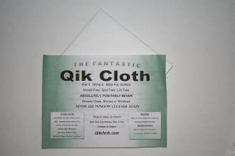 "The Fantastic Qik Cloth -Single (16""X16"")"